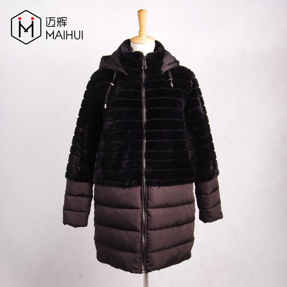 Kadınlar kışlık kürk palto Faux Fur Uzun Ceket