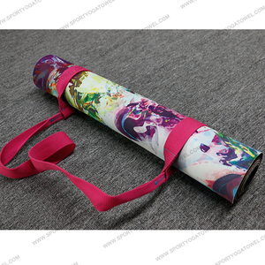 Sublimation printed antibacterial non-slip rubber pad folding gym mat for yoga workout