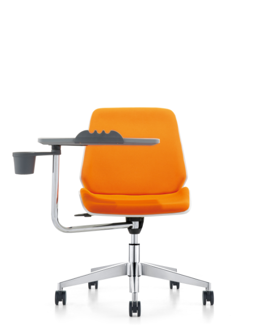 Fashionable Comfortable Lift Classroom Student Desk Chair With Writing Pad Wheels
