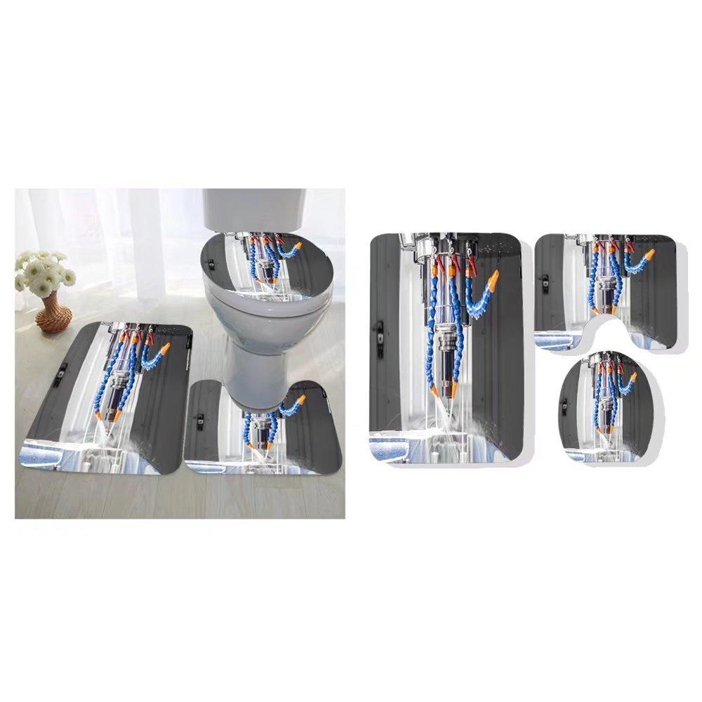 Madeleine Ellis three-piece toilet seat pad custom high precision cnc machining center working operator machining automotive sample part process in