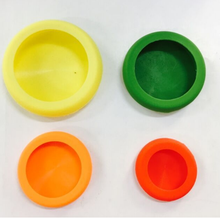 Amazon hot sale fruit and vegetable fresh keeper silicone food hunger 4pc per set