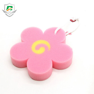 High Quality Best Choice Sponge Flower Shapes Baby Bath Sponge