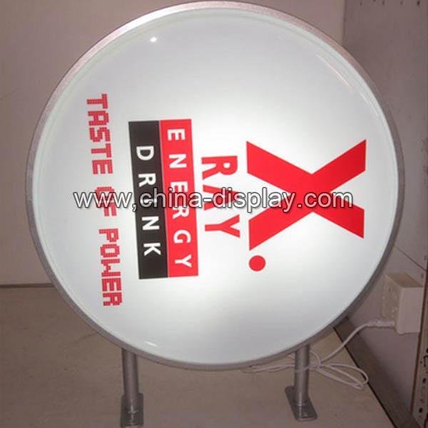 Advertising Round Shape Used Sign Outdoor Aluminum Frame Led ...