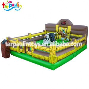 hot-selling 0.55mm PVC Tarpaulin mechanical bull riding-guangzhou