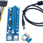 pci-e pci e express 1x to 16x Riser card usb 3.0 cable with the molex for Bitcoin Litecoin miner