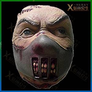 2015 - X-MERRY HAUNTED HOUSE WITH NASTY LATEX HEAD MOUTH COVERED GAUZE MASK PARTY SCARY BLOODTHIRSTY PROPS
