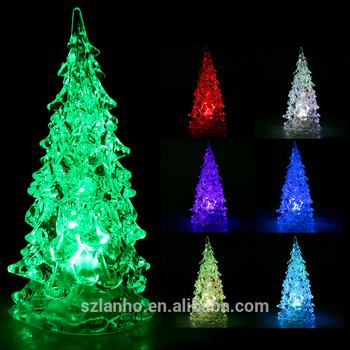 Christmas Tree Ice Crystal Color Changing LED Desk Decor/Table Lamp Light  Cute Mini LED - Christmas Tree Ice Crystal Color Changing Led Desk Decor/table Lamp