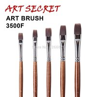 High grade 3500F super quality nylon hair acrylic handle painting brush drawing brushes
