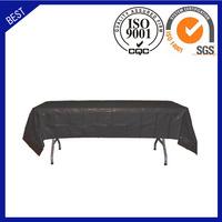 Wholesale black custom table cloth printing table cover plastic table cloth