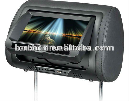 Hot Selling 7 inches car headrest monitor with dvd