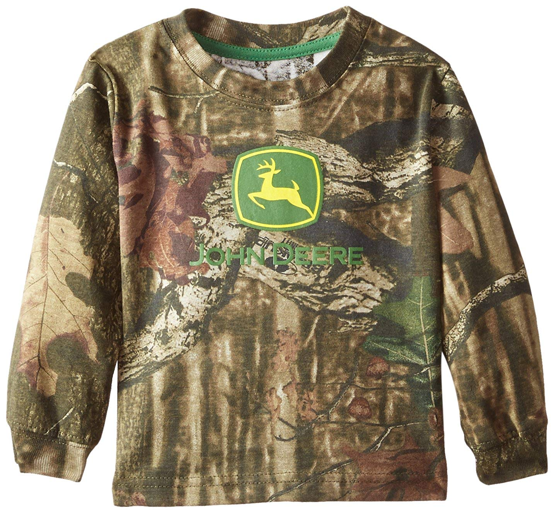 John Deere Baby Boys' Long Sleeve Trademark T Shirt Mossy Oak
