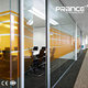 Office single clear glass partition internal glazed walls