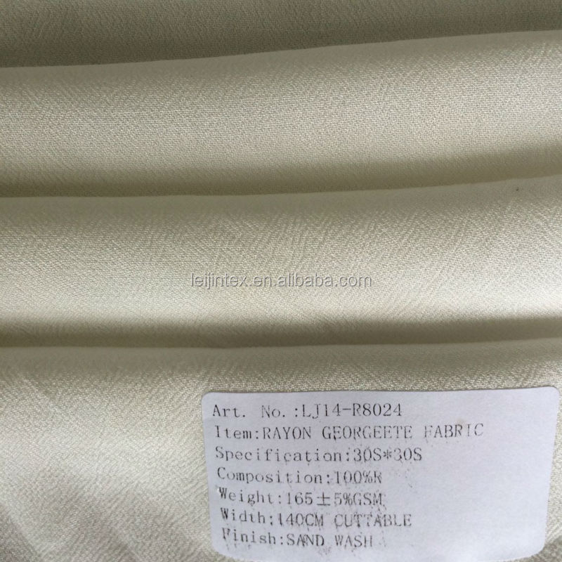 Georgette Fabric, Rayon Fabric Wholesale, Woman Smart Casual Dress Fabric