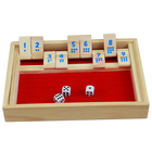 Deluxe Shut The Box - Wooden Board Game with Dice for The Classroom, Home or Pub - 14 in