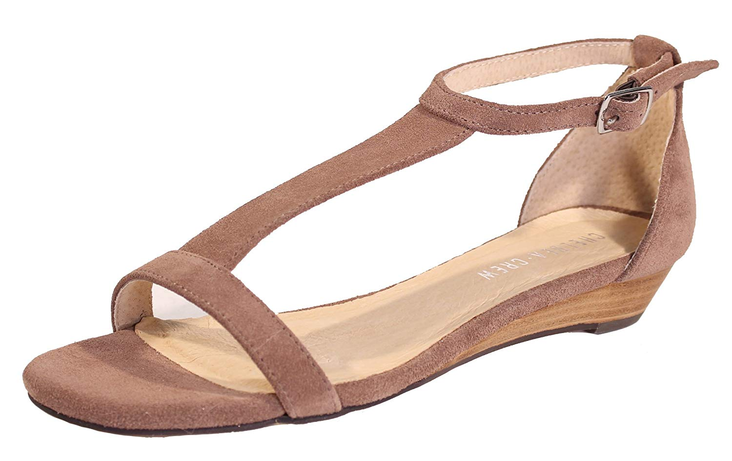 e366a484e8ee0 Get Quotations · Chelsea Crew Samira T-Strap Low-Wedge Sandal