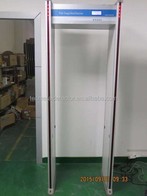 Waterproof 8 Zones Security Body Scanner Gate TEC-ES2 walk through metal detector