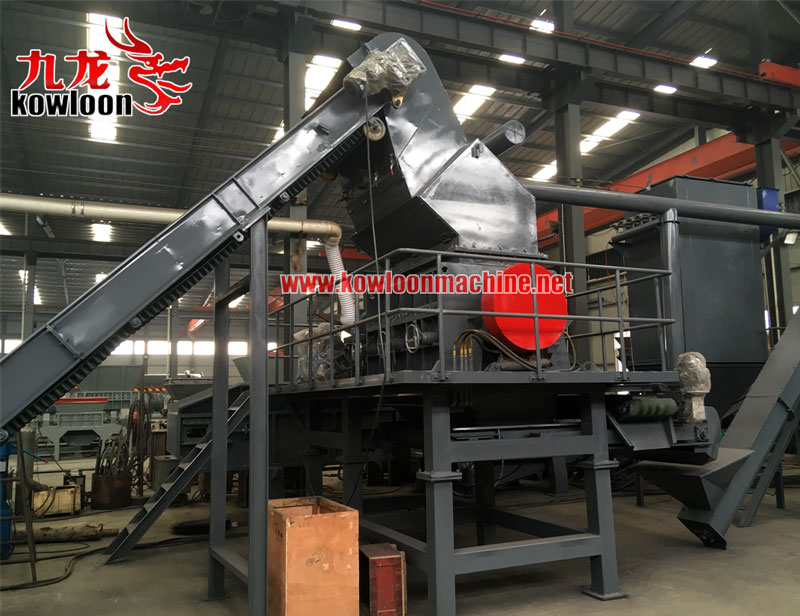 Waste rubber relaim line used tire recycling machine