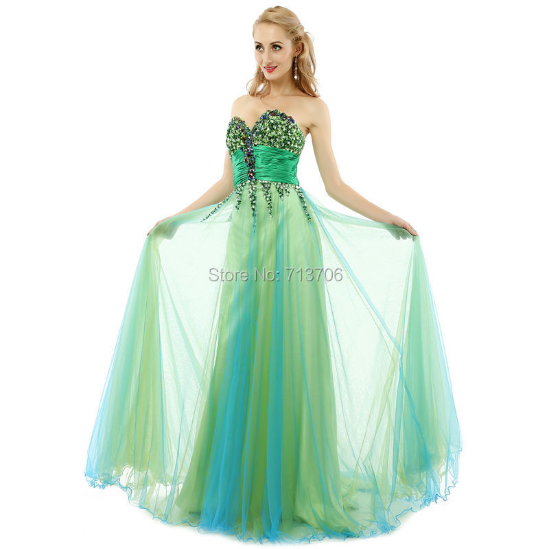 289ba1e42d20a Get Quotations · Real Picture Amazing Crystal Beaded Bodice Sexy Prom  Dresses Multi color Floor Length A line Long