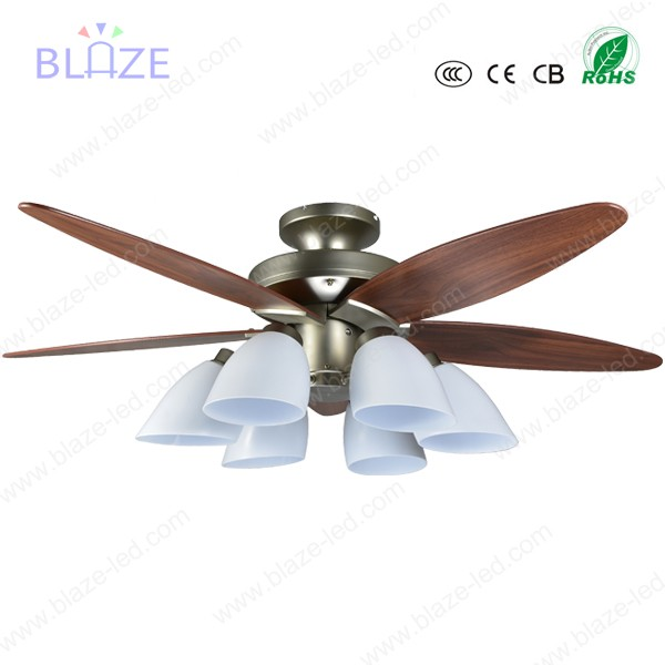 LED light ceiling fan hidden blade wifi remote control