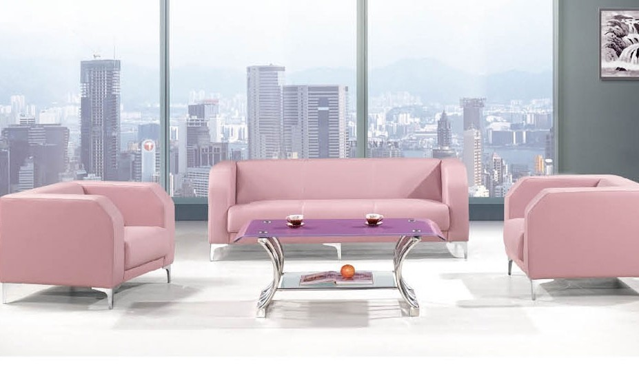 Lovely Fashion Pink Colour Leather Reception Sofas Hz 316 Floor Seating Cushions Sofa Office Recline Product On Alibaba