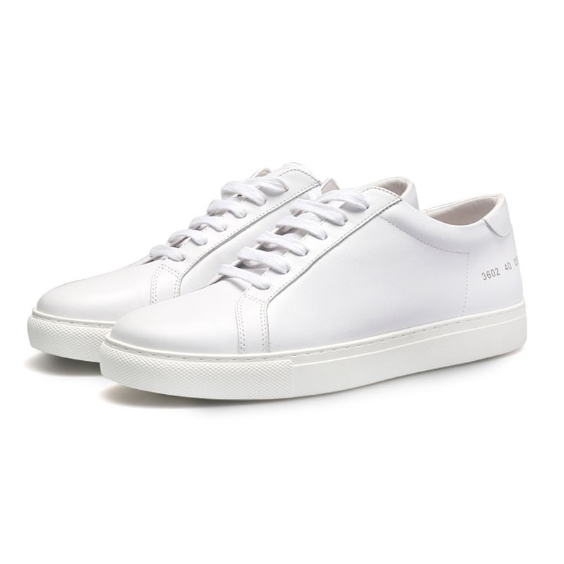 Brand design Casual Sneakers white lady Genuine leather Lace Up Shoes lovers sneakers HC-103-1