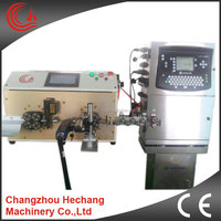 Automatic electric wire cutting, wire stripping, wire inkjet marking machine with serial number