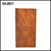 2016 men card holder money genuine leather passort wallet case