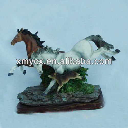 New style resin running horses for home decoration