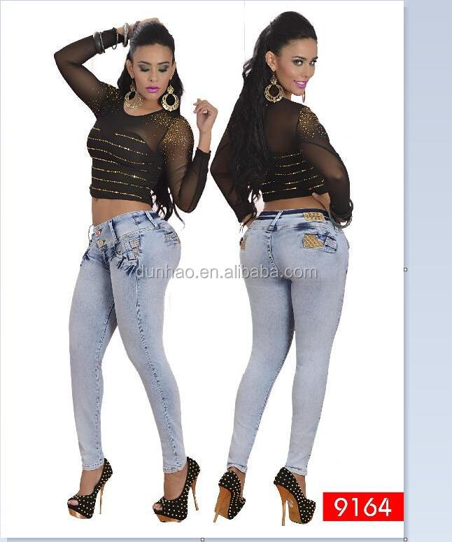 ba00c3508c7 2018 Colombian Style Skinny Butt Lifter Jean Women Butt Lift Jeans ...