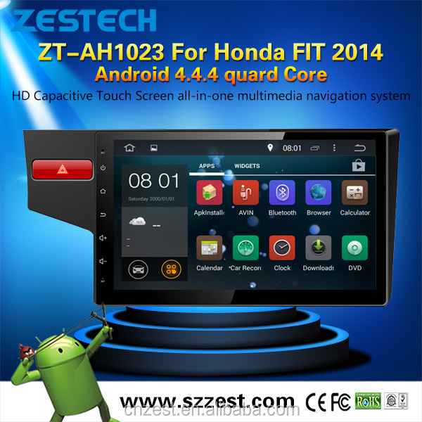 Android 4.4.4 2 QUARD CORE din 7 inch car dvd player for Honda FIT
