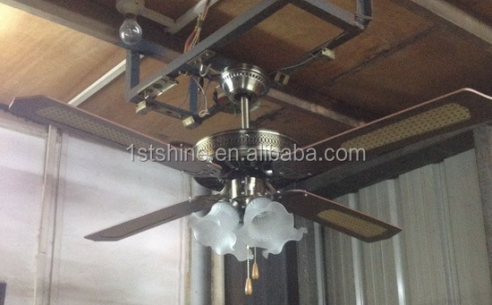 2017 good price big decorative wood blades ceiling fan for wholesale