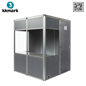 Conference Sound Proof Translation Booth Isolation Booth for 2 intrepreters
