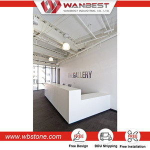 Custom design reception counter table luxury reception desk salon reception desk with low price