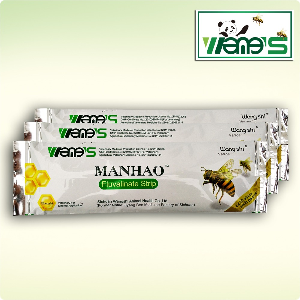 80 Strips Bee Varroa Medicine ManHao More Powerful Fluvalinate Strips) Marvic