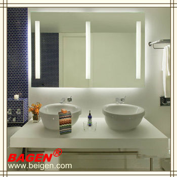 Bathroom Vanity Lights Hotel : Hotel Bathroom Mirror With Light Modern Bathroom Vanity Mirrors Made In Shanghai China - Buy ...