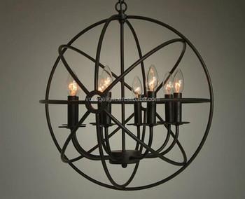Kronleuchter Klein Vintage ~ Dekorative vintage kronleuchter käfig filament hängeleuchte kerze