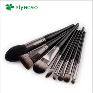 8pcs Black full set of combined makeup brush set hot sale cosmetics brush tool kit