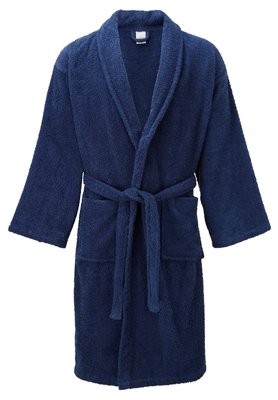 b092a3b8df Get Quotations · Mens Hooded Robe Coat - Turkish Cotton Mens Bathrobe  Lightweight Spa Robe