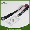 Custom fabric material polyester lanyard rope with card holder