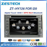 Factory direct sale Car audio for Hyundai I20 2008-2012 car auto radio dvd cd player ZT-HY726