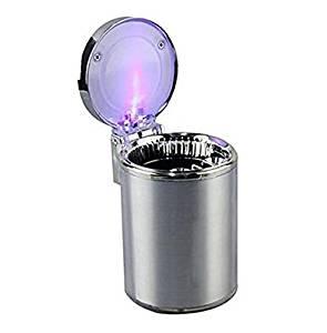 Movable Ashtray Car LED Light Ashtray Auto Travel Cigarette Ash Holder Cup (Silver)