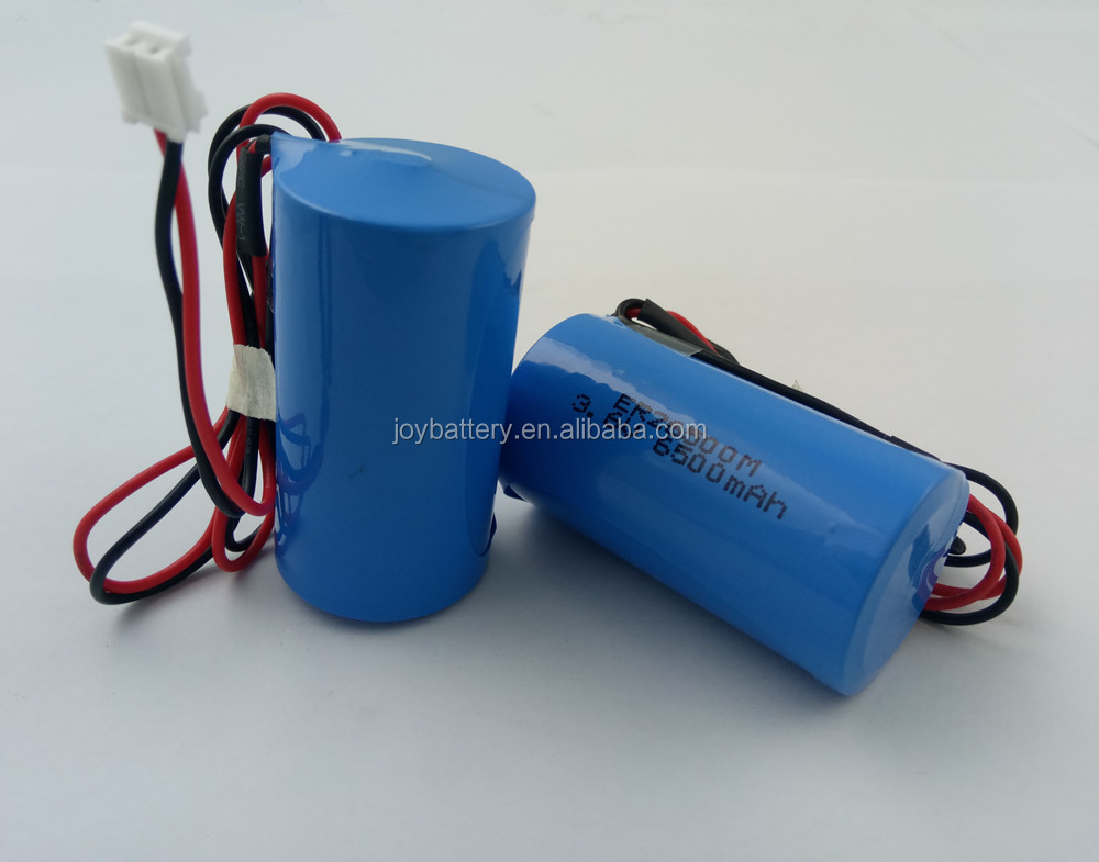 ER26500M 3.6V 6500mAh Li-SOCl2 high power type C size primary lithium battery