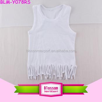 48face872 Kids Baby Girl Casual Tassel Vest Tops Shirt White Print Cotton ...