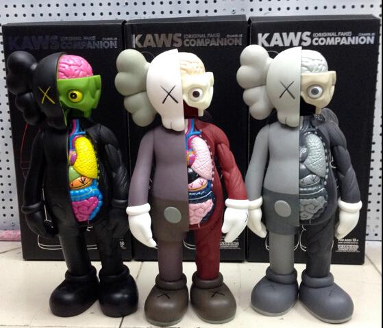 16inch OriginalFake KAWS Dissected Companion Door God Anatomy playmobil figurine Doll furnishing articles Cartoon Model toy/gift