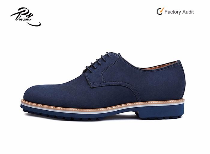 Chaussures En Cuir Nubuck Couleur Marine Pour Hommes Style Décontracté En Caoutchouc Forme Semelle Extérieure 2016 Buy Chaussures Hommes