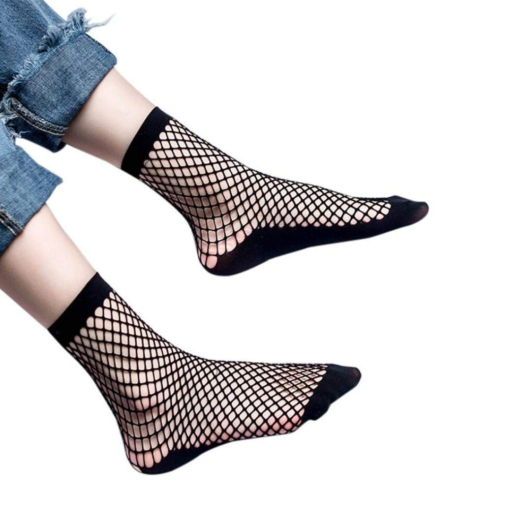 08b22a08a82 Get Quotations · Kshion Women Sexy Lace Fishnet Net Plain Top-Ankle Short  Socks Stylish
