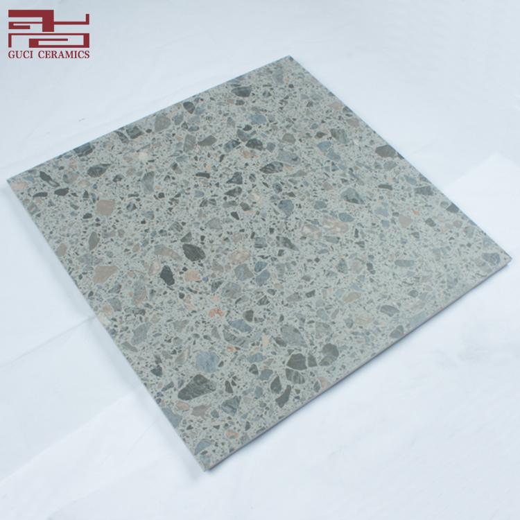 Foshan Guci Dark Gray Terrazzo Garden Floor Tiles Marble