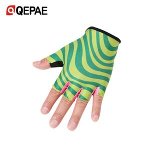 QEPAE Semi-Finger Mountain Bike Horse Riding Cycling Gloves With Thickening And Anti-Shock Pad