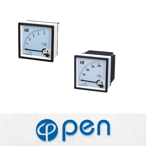 Square Type Moving Coil Power Meter,Analogue Panel Meter
