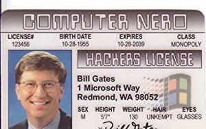 Bill Gates Fun Fake ID License